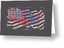Preamble To The Constitution On Us Map Greeting Card