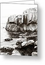 Precarious At Pebble Beach Greeting Card