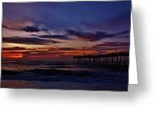 Predawn Avon Pier 2 4/10 Greeting Card