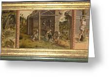 Predella Of La Madonna Della Rondine Greeting Card