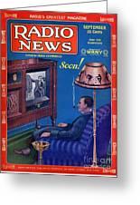 Predicting Television At Home, Radio Greeting Card