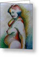 Pregnant Nude Greeting Card
