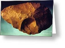 Prehistoric Flint Blade Greeting Card