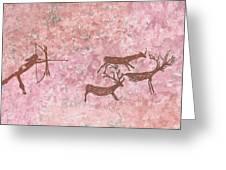 Prehistoric Hunter Greeting Card