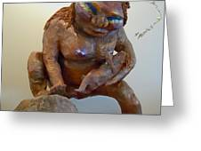 Prehistoric Madonna Greeting Card by Francine Frank