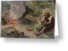 Prehistoric Man: Pottery Greeting Card