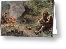 Prehistoric Man: Pottery Greeting Card