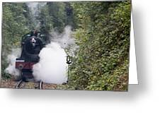 Preserved Steam Locomotive  Greeting Card