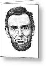 President Abe Lincoln Greeting Card