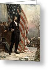 President Abraham Lincoln - American Flag Greeting Card