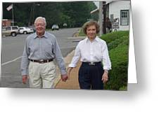 President And Mrs. Jimmy Carter Greeting Card