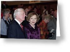 President And Mrs. Jimmy Carter Nobel Celebration Greeting Card