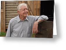 President Carter At His Boyhood Farm Greeting Card