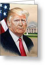 President Donald Trump Art Greeting Card
