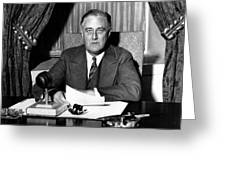 President Franklin Roosevelt Greeting Card by War Is Hell Store