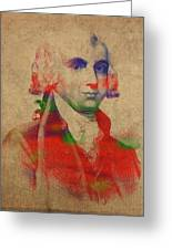 President James Madison Watercolor Portrait Greeting Card