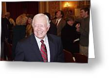 President Jimmy Carter - Nobel Peace Prize Celebration Greeting Card