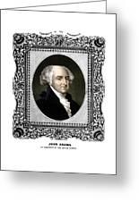 President John Adams Portrait  Greeting Card by War Is Hell Store