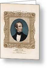 President John Tyler - Vintage Color Portrait Greeting Card