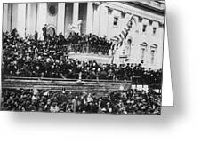 President Lincoln Gives His Second Inaugural Address - March 4 1865 Greeting Card