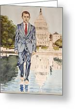 President Obama Walking On Water Greeting Card