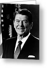 President Ronald Reagan Greeting Card by International  Images