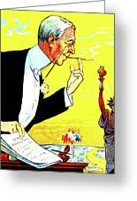 President Woodrow Wilson And The 15th Proposition For The League Of Nations Greeting Card