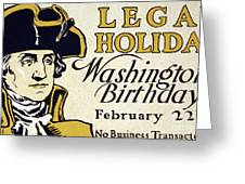 Presidents Day Vintage Poster Greeting Card