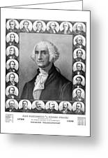 Presidents Of The United States 1789-1889 Greeting Card