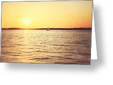 Presque Isle Sunset Greeting Card