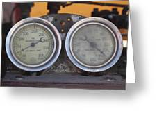 Pressure Gauge Greeting Card