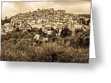 Pretoro - Landscape In Sepia Tones  Greeting Card