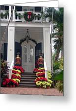 Pretty Christmas Decoration In Key West Greeting Card