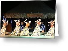 Pretty Dancers In Tahiti Greeting Card