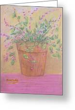 Pretty Flowers In Pink Greeting Card