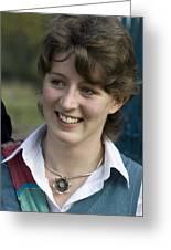 Pretty Girl At Oxford Greeting Card