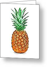 Pretty Pineapple II Greeting Card