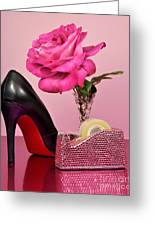 Pretty Pink Bling Office Accessories Greeting Card