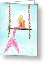Pretty Pink Swing Greeting Card