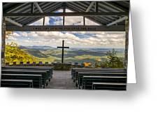 Pretty Place Chapel - Blue Ridge Mountains Sc Greeting Card
