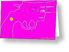 Pretty Revolver Greeting Card