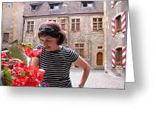 Pretty Woman In Neauchatel 2 Greeting Card