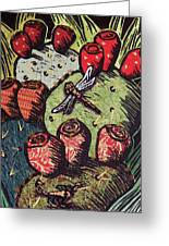 Prickly Pear Greeting Card by Candy Mayer