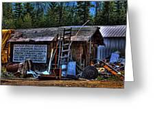 Priest Lake Lumber Mill Greeting Card
