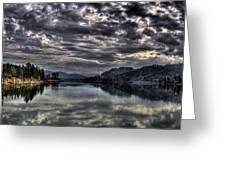 Priest River Panorama 3 Greeting Card