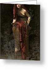 Priestess Of Delphi Greeting Card