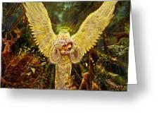 Priestess Of The Woods-angel Tarot Card Greeting Card