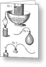Priestleys Gas Manipulating Apparatus Greeting Card