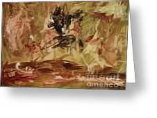 Primal Thoughts - Contemporary Modern Abstract Art Painting  Greeting Card