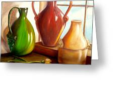Primarily Jugs. Sold Greeting Card